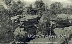Devil's Stand Table, Giant City State Park - Makanda, Illinois IL