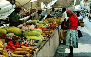 Curacao Famous Schooner Fruit and Vegetable Market 1974