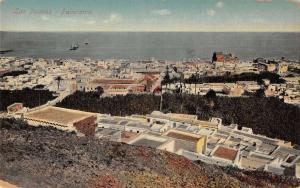 Las Palmas Grand Canary Islands panoramic view town and ocean antique pc Z22508