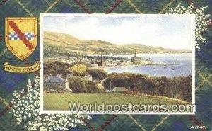 Hunting Stewart Largs Scotland, Escocia Writing on back