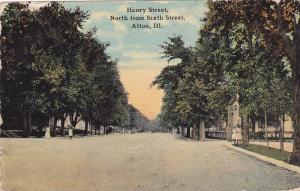 Henry Street, North from Sixth Street, Alton, Illinois, PU-1916