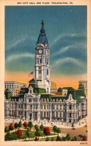Pennsylvania Philadelphia City Hall and Plaza 1955