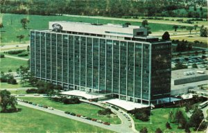 Postcard Ford Motor Company Central Office Building Dearborn Michigan