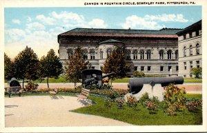Pennsylvania Pittsburgh Schenley Park Cannon In Fountain Circle