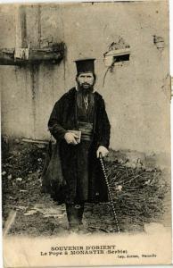 CPM Souvenir d'Orient. MONASTIR Le pope MACEDONIA SERBIA (708965)