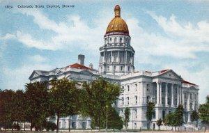 Colorado State Capitol, Denver, Unused Postcard, Vtg, Historic Building