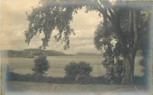 C-1910 Cooperstown New York Lakefront Mountains RPPC Photo Postcard 13139