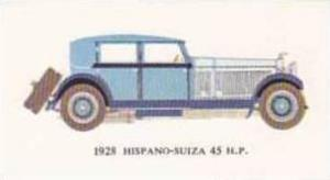 Mobil Oil Vintage Trade Card Vintage Cards No 16 Hispano Suiza 45 H P  1928