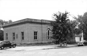 Falls City NE~Post Office, Recruiters Sign~Real Photo Postcard RPPC
