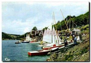 Postcard Modern Mervent The Port Of Sailing On Lake Of Mervent