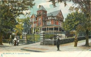 Albany New York~Victorian Visiters to Executive Mansion~c1910 TUCK Postcard