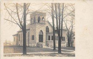 G21/ Reading Michigan RPPC Postcard c1910 Free Baptist Church Building
