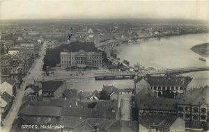Hungary Szeged scenic view vintage Postcard
