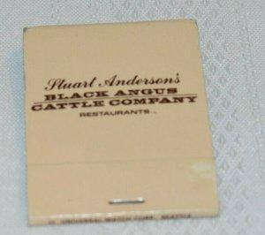 Stuart Anderson's Black Angus Cattle Company 20 Strike Matchbook