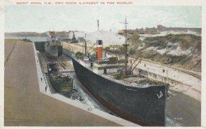 SAINT JOHN, New Brunswick, 1910s-20s; Dry Dock (Largest in the World)