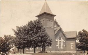 D23/ Thornville Ohio Postcard Real Photo RPPC 1908 The Reform Church Building