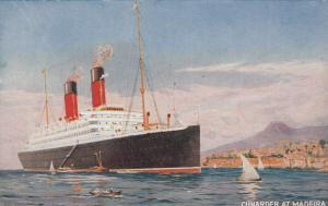 Cunard Ocean Liner at Madeira , 00-10s
