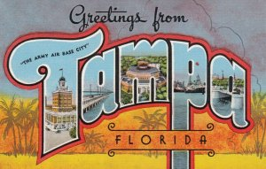 Large Letter Greetings, TAMPA, Florida , 30-40s