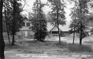 Fairview MI Having A Wonderful Time @ Camp Barakel~Where We Sleep ---> RPPC 1950