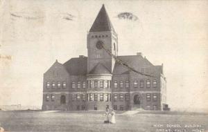 Great Falls Montana High School Building Street View Antique Postcard K83041