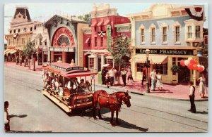 Anaheim California~Disneyland~Main Street~Upjohn Pharmacy~Non Disney PC~1969