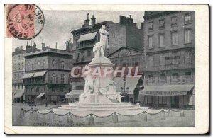 Postcard Old Statue Bordeaux Gambetta