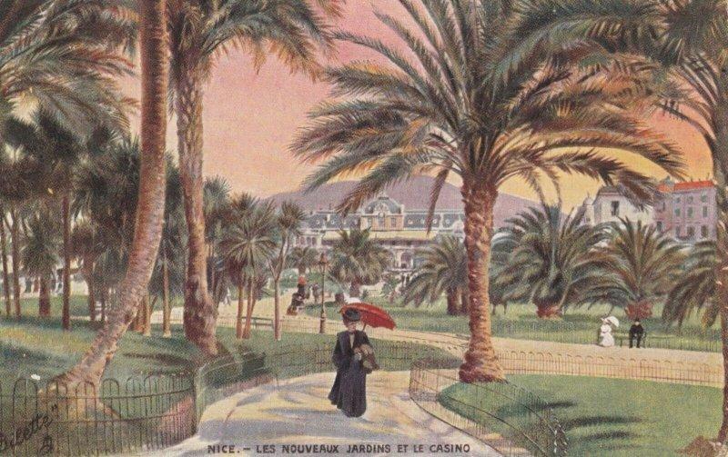 NICE, France, 1900-10s; Les Nouveaux Jardins et le Casino , TUCK 761 P No 4