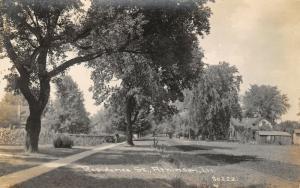 Atkinson IL~Man Walks Knee-High to Cornfield Nr Homes~Willow~RPPC 1910 CR Childs