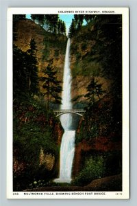 Columbia River Highway OR-Oregon,  Multnomah Falls, Vintage Postcard