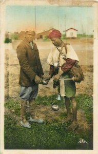 Moroccan water carrier ethnic life photo postcard Morocco