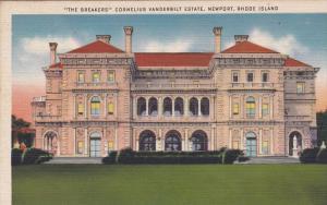 Rhode Island Newport  Mansion of  Cornelius Vanderbilt  the Breakers