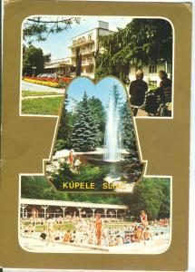Slovakia, Kupele Sliac, used Postcard