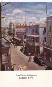 Barbados Bridgetown Broad Street Scene 1952
