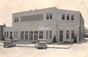 A37/ Neosho Missouri Mo Real Photo RPPC Postcard Auditorium City Hall 40s