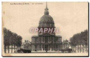 Old Postcard Wonders of Paris Les Invalides