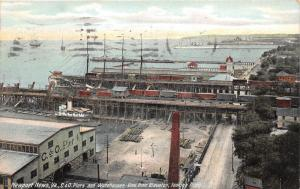 Newport News Virginia~C&O Piers & Warehouses~View from Elevator~1909 Pc