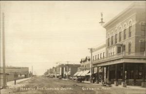 Glendive MT Merrill Ave c1910 Real Photo Postcard