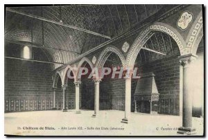 Old Postcard Chateau de Blois Louis XII Wing Hall of the States General