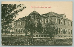 Payette Idaho~Tower Nearly Surrounded @ West Side School~1913 PC