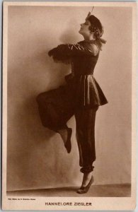 Vintage 1910s RPPC Real Photo Postcard HANNALORE ZIEGLER Actress Dancer Costume