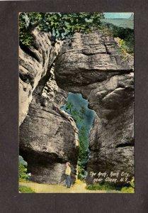 NY The Arch Rock City near Olean New York Vintage Postcard