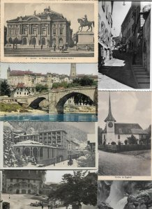 Switzerland - Geneva Fribourg Luzern and more Postcard Lot of 20 with RPPC 01.09