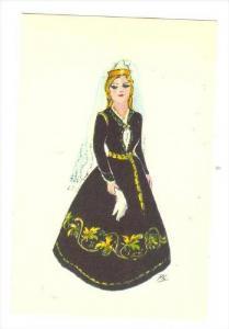 Iceland, Girl in Festival dress, 40-50s