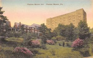 Pocono Manor Pennsylvania~Manor Inn on Hillside~1920s Handcolored Albertype PC