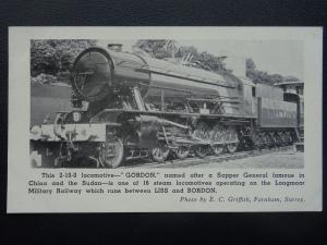L.M.R. Longmoor Military Railway LOCO GORDON 2-10-0 Sapper General Old Postcard