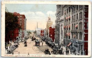 Hartford,, Connecticut Postcard Main Street, South from Asylum St. 1917 Cancel