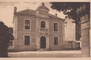 Saint St Aubin La Mairie Rue Laurent Antique French Postcard