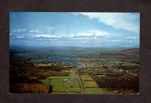 ME Aerial view Moosehead Lake Houses Greenville Maine Postcard