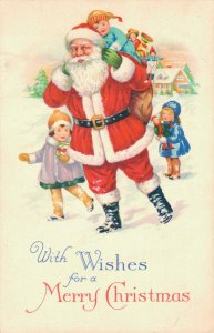 With Wishes for a Merry Christmas Santa Claus 03.75