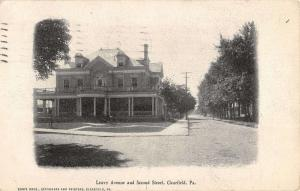Clearfield Pennsylvania Leavy Ave Street Scene Antique Postcard K39734